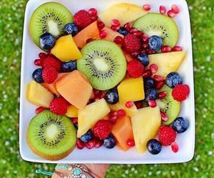fruit, healthy, and kiwi image