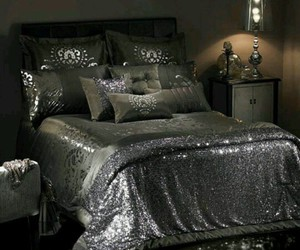 bedroom and glitter image