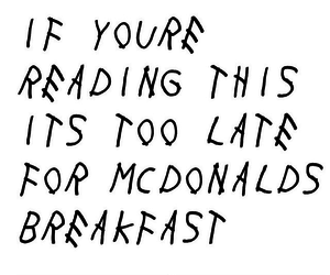 McDonalds and breakfast image