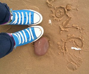 beach, converse, and fastion image