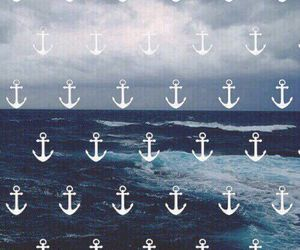 wallpaper, sea, and anchor image