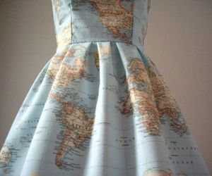 dress, world, and map image