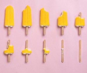 pink, yellow, and ice cream image