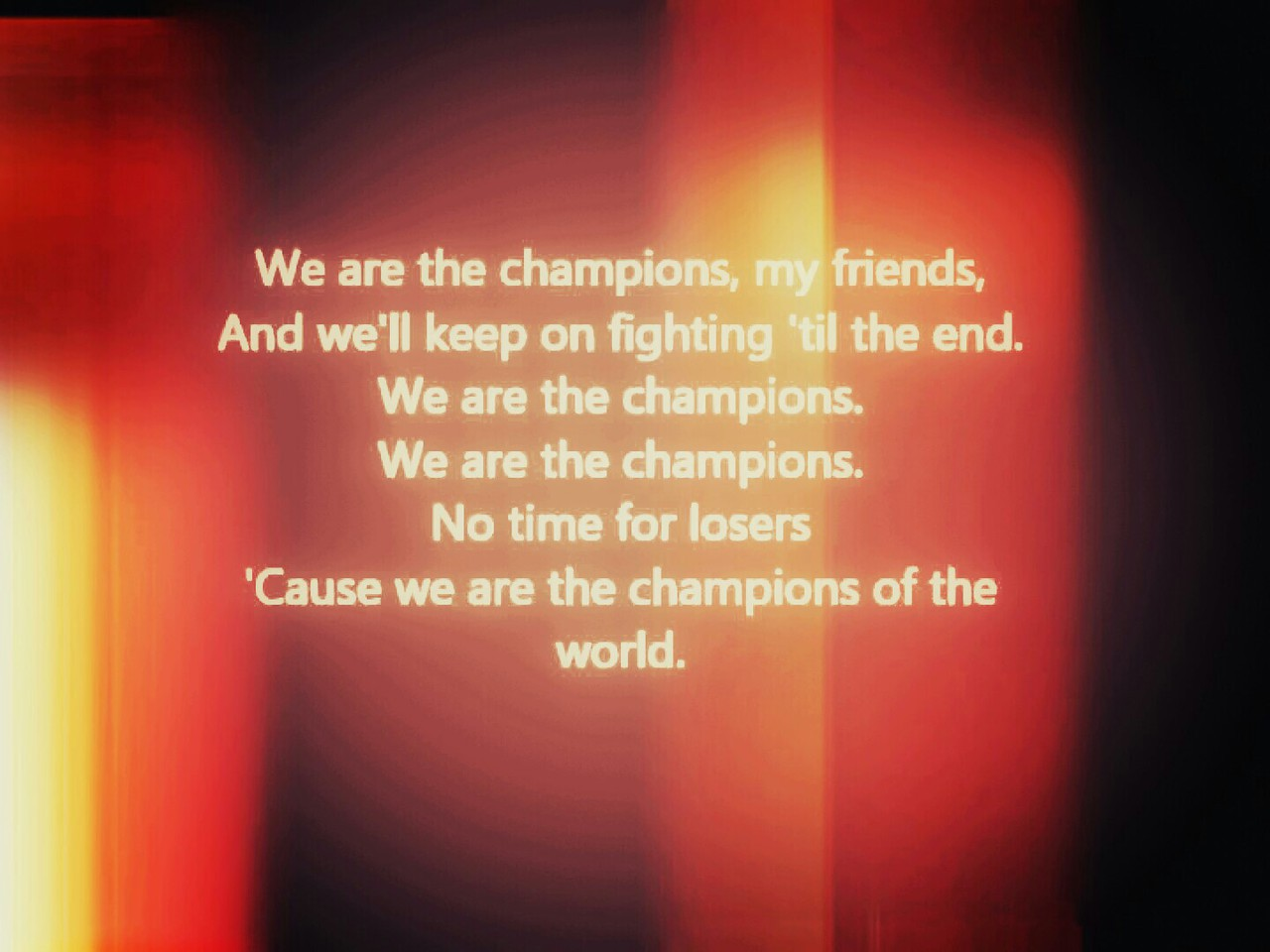 Lyrics, Queen, and we are the champions image