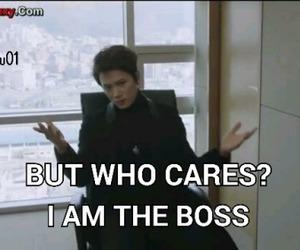 boss, drama, and funny image