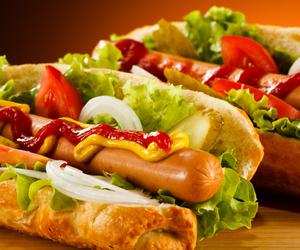 food, onion, and sausage image