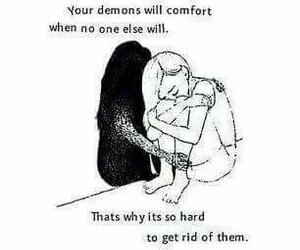 demon, alone, and depression image