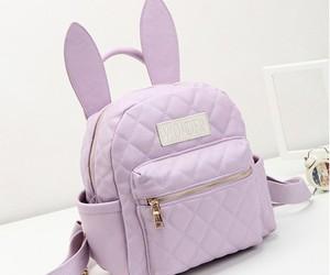 bag, bunny, and purple image