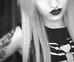 alternative, beauty, and black and white image