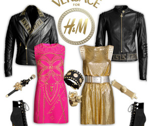 black, gold, and H&M image