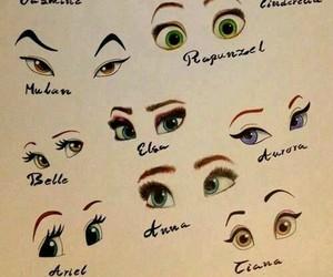 disney, eyes, and princess image