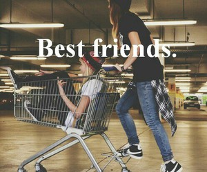 best friends, girls, and nike image