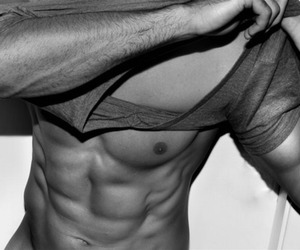 abs, black white, and body image