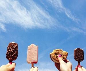 summer, ice cream, and sky image