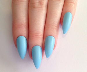 baby blue, fashion, and manicure image