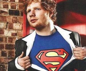 ed sheeran and superman image