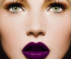 lips, makeup, and purple image