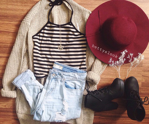 fashion, clothes, and hat image