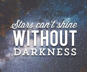 Darkness, inspiration, and stars image