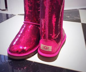 boots, hot pink, and pink image