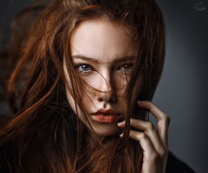 red hair and photography image