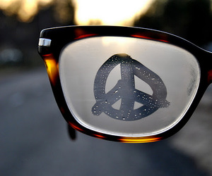 awesome, glasses, and peace image