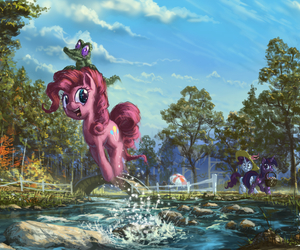 MLP, twilight sparkle, and pinkie pie image