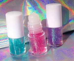 glitter, hologram, and lip balm image
