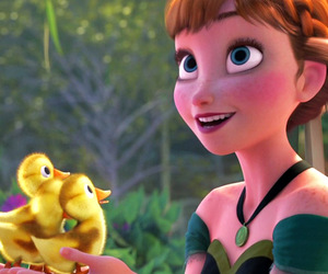 anna, disney, and duck image