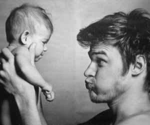 babies, dad, and in love image