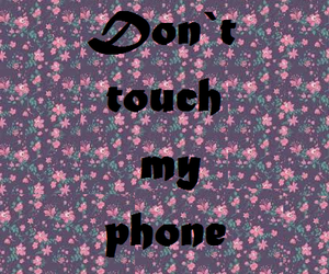 flores, phone, and touch image