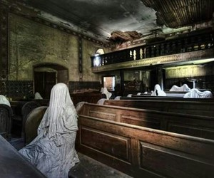 ghost, creepy, and abandoned image