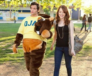 emma stone, easy a, and Penn Badgley image