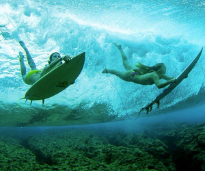 girl, beach, and surf image
