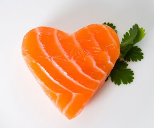 heart, fish, and food image