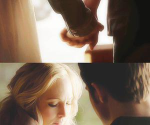 stefan salvatore, steroline, and love image