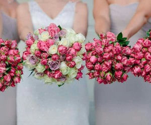 beautiful, bouquets, and bridesmaids image