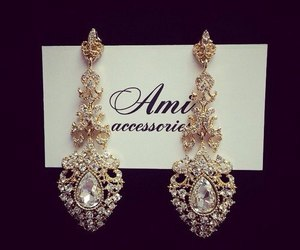 earrings, luxe, and luxury image