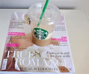 starbucks, vogue, and magazine image