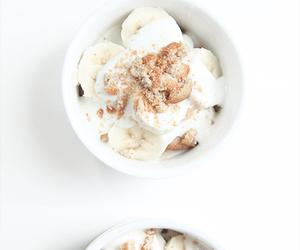 food, white, and banana image