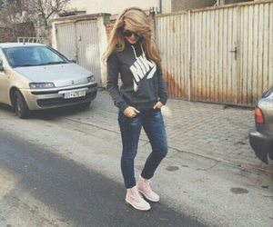 jeans, nike, and outfit image