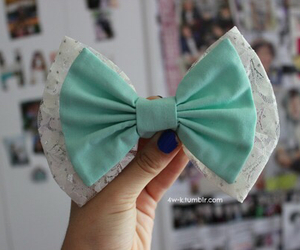 bow, girly, and blue image