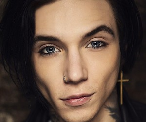 andy, andy biersack, and black image