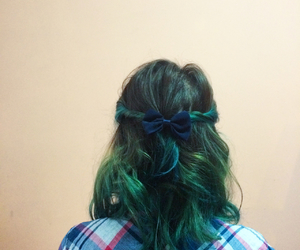 blue hair, funny, and color image