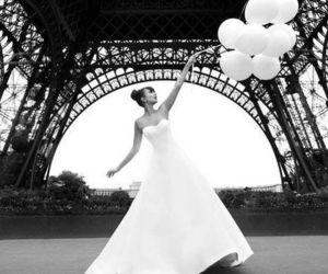 paris, balloons, and wedding image