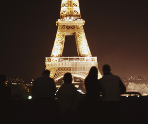 paris, light, and night image