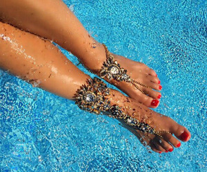 feet, water, and the classy lady image