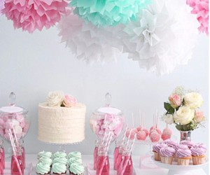 mint, pink, and partyideas image