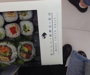 grunge, sushi, and food image