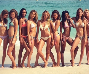 beach, girls, and sexy image